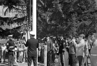 American Legion Presenting Flags to County Schools 1973 (6)