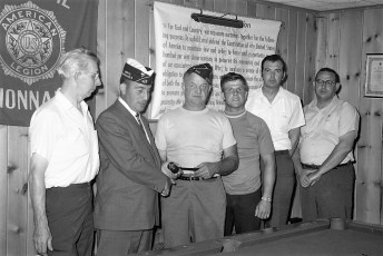 G'town American Legion Post new officers 1970