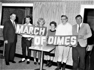 County Line Rest. March of Dimes Coin Card Clermont 1968