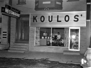 Koulos' Restaurant Warren St Hudson 1960