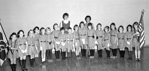 Greenport Girl Scouts Brownie Troop 9 Mrs. Joyce Shufelt 1969