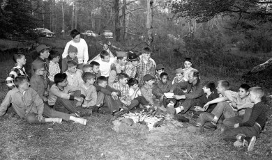G'town Boy Scouts at Scout Camp in Ghent 1956