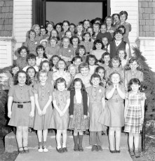 G'town Girl Scouts at Methodist Church 1958