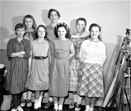 G'town Girl Scouts with School Nurse Ruth Lasher 1958