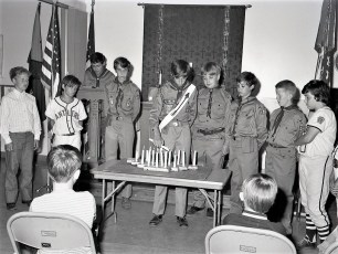 Hudson Scout Troop 109 Induction Ceremony 1973 (1)