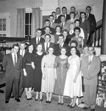 Chatham High Class of 1950 at General Worth Hotel 1957