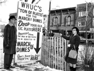 WHUC's March of Dimes Licence Plate Drive