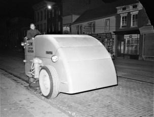 City of Hudson street sweeper Walter Doty 1956