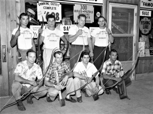 Hudson Boy's Club Team outfitted by Steiner's Sports Store 1957