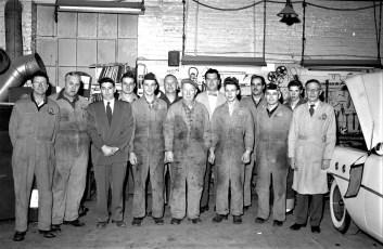 Hudson Buick service staff 1955