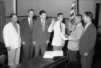 Hudson Mayor for a Day swearing in 1956