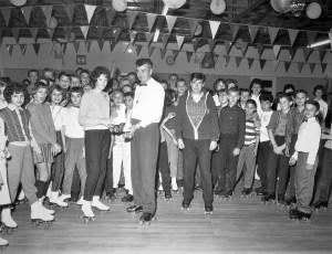 Am. Leg. Jr. Drum & Bugle Corp  Thunderbirds at Skatarama 1961 (1)