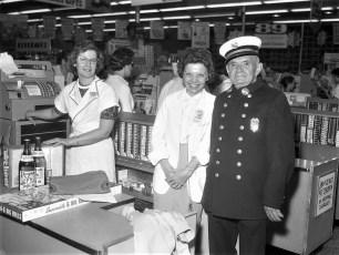 Ed Hofter at First National Store Hudson 1961