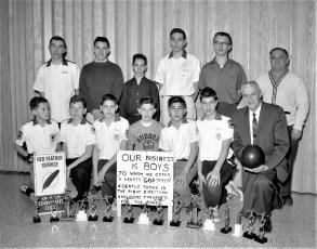 Hudson Boys Club Bowling Team 1964