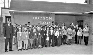 Hudson Boys Club off to Shriners Circus in Albany 1961