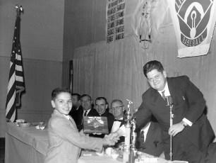 Hudson Elks Little League Dinner with Yankee Elston Howard 1962