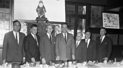 Hudson Lions Club Mel Allen guest speaker 1961