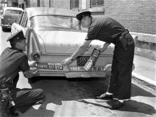 Hudson Police Youth Day bumper  sticker 1960