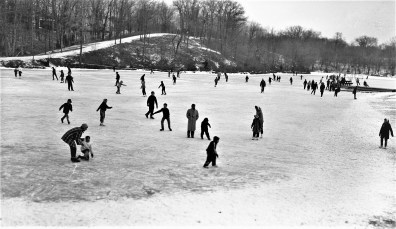 Skating on Oakdale Lake Hudson 1962