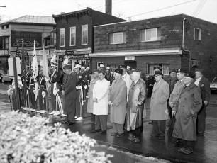Veteran's Day Observance    Hudson 1962