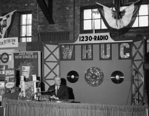WHUC Booth at Hudson Armory Expo 1964