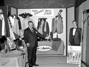 Harry Carhart of Simmon's Plaza  Exhibit at Hudson Armory Expo 1967