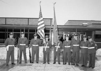 Hudson V.F.W. and  Auxiliary flag dedication at John L. Edwards School 1965 (3)