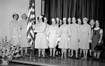 Hudson V.F.W. and  Auxiliary flag dedication at John L. Edwards School 1965 (4)
