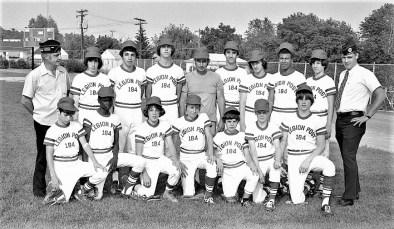 American Legion Post 184 Baseball Team Hudson 1973