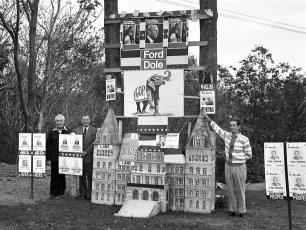 GOP Display 7th and Washington St. Hudson 1976
