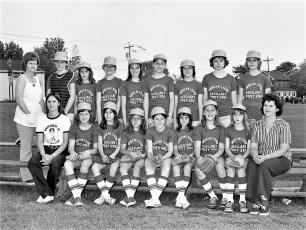 Girl's Softball League Teams 1975 (2)