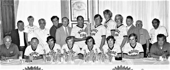Loyal Order of Moose Softball Team Awards Hudson 1974