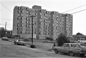 New Housing Project High Rise Building Hudson 1973