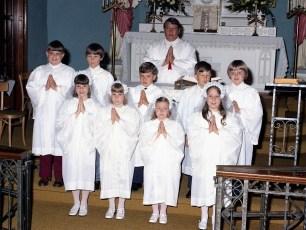 Sacred Heart Church 1st Communion Hudson 1973