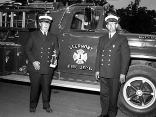 Clermont Fire Dept. with trophy at Columbia Cty. Fair