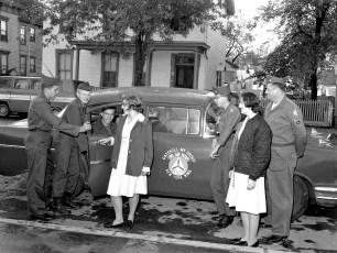 Civil Air Patrol Cadets depart for training Hudson 1964