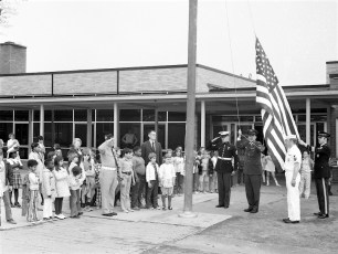 Hudson VFW donates flags to Col. Cty. Schools 1973 (3)