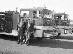 Greenport Fire Co's. two new trucks Pumper #1 & #3 1968