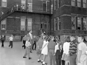 Hudson Fire Prevention Week St. Mary's Academy & 6th Street School 1963 (4)