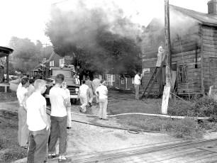 G'town Fire Edgar DeWitt's store house Cheviot Aug. 1959 (1)