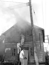 G'town Fire Edgar DeWitt's store house Cheviot Aug. 1959 (2)