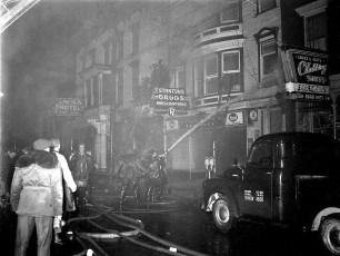 Hudson Fire 311 Warren St. Lincoln Hotel & Stanton Drug Store Dec. 1956 (2)