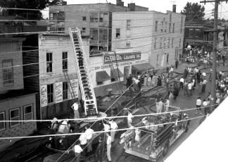 Hudson Fire Carpenter's Laundry Columbia St. July 1956 (1)