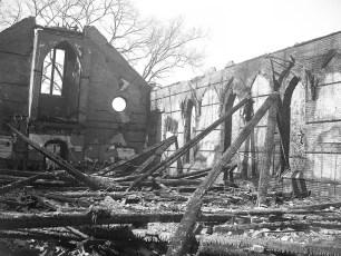 Hudson Fire St. Mary's Academy Hall Mar. 1950 (2)