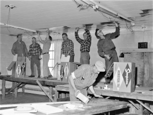 Churchtown Fire Co. finishing work on new hall Mar.1962