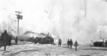 Claverack Fire Agway Coop wooden storage building Feb. 1968 (3)
