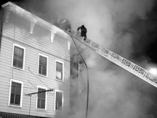 Hudson Fire Byron Parker Bldg. Warren St. Nov. 1966 (7)