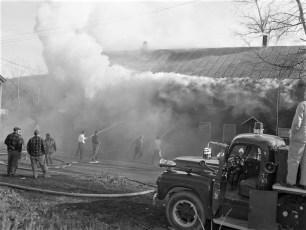 Mellenville Fire Rt. 217 Nov. 1962 (1)