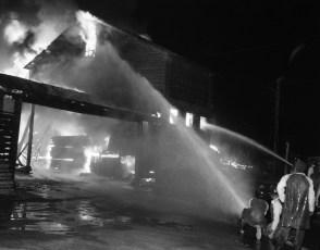 Red Hook Fire Scheffler's Lumber Yard Thompson St. July 1964 (2)