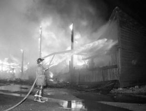 Red Hook Fire Scheffler's Lumber Yard Thompson St. July 1964 (4)